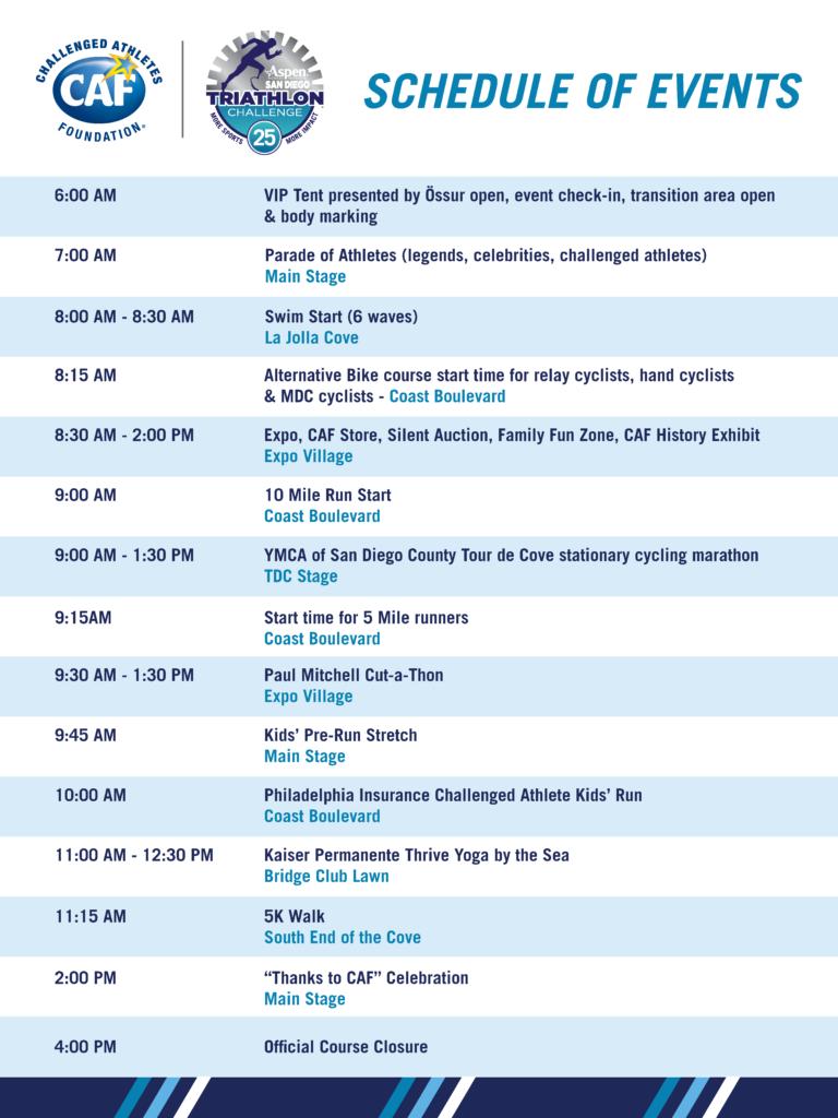 2018 SDTC schedule