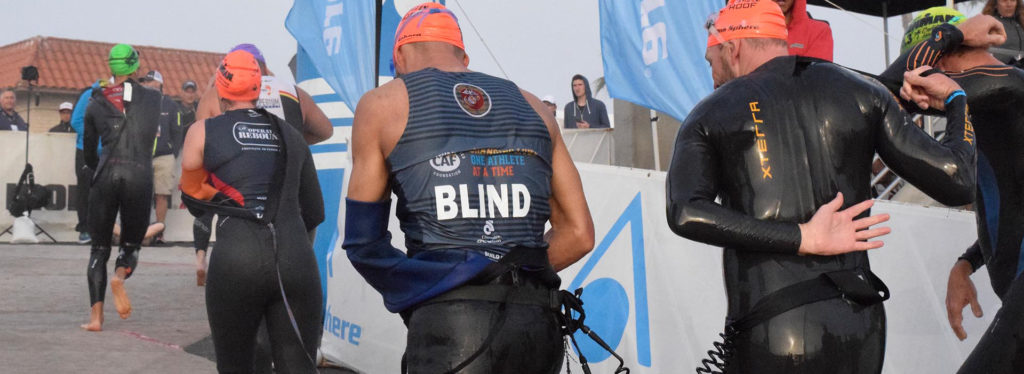 IRONMAN 70.3 Oceanside Blind Triathlete