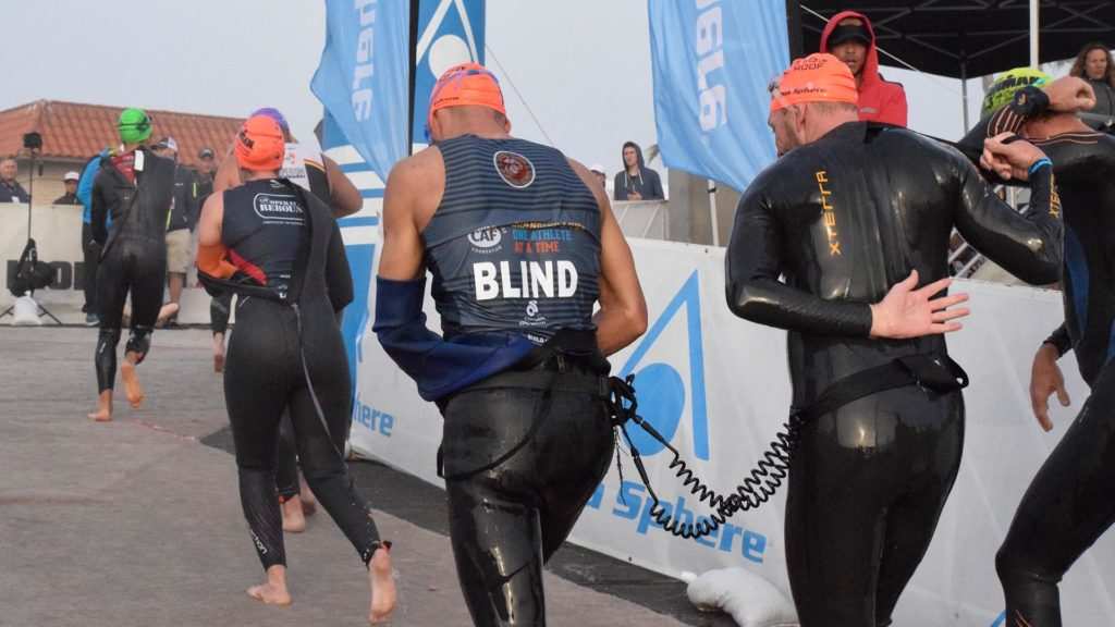 Ironman 70.3 Oceanside blind athletes