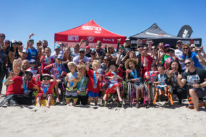 Junior Seau surf clinic with Ironman and CAF