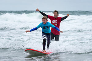 Mike Coots at surf clinic