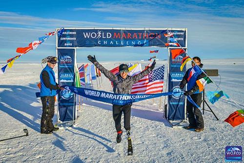 Sarah Reinertsen World Marathon Challenge _ Antartica