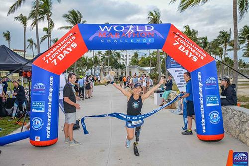Sarah Reinertsen World Marathon Challenge _ Miami