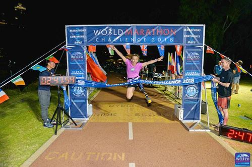 Sarah Reinertsen World Marathon Challenge _ 4