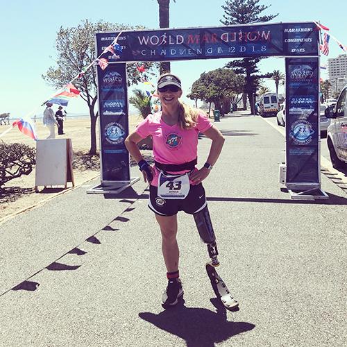 Sarah Reintertsen World Marathon Challenge