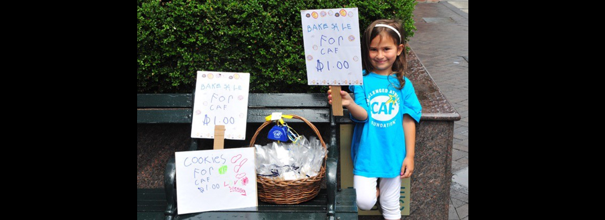 Seven Year Old Sienna raises money for challenged athletes