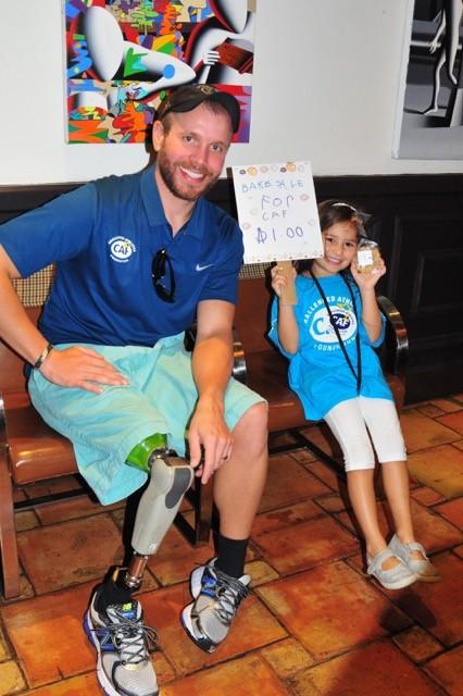 Sienna with CAF athlete Matt Graham