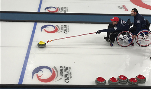 Justin Marshall Team USA Wheelchair Curling