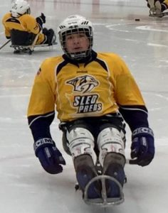 evan sled hockey