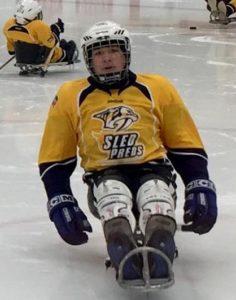 evan sled hockey