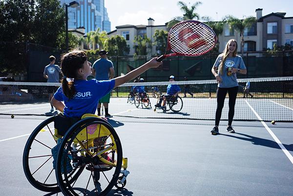 Wheelchair Tennis at SDTC Clinic
