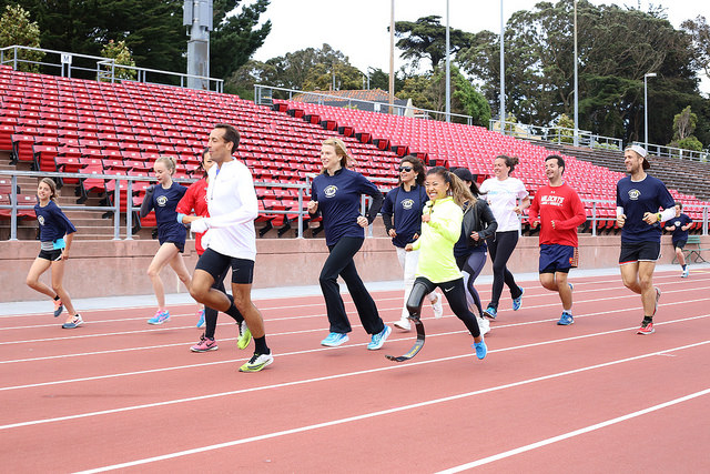 SF inclusive Track Workout Scout and Group