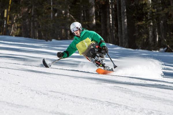 Dan Riley skiing