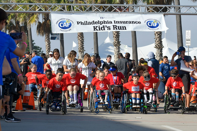 Challenged Athletes Kids Run at the San Diego Triathlon Challenge 2018