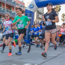 Molly Cuevas running the San Diego Triathlon Challenge-2018