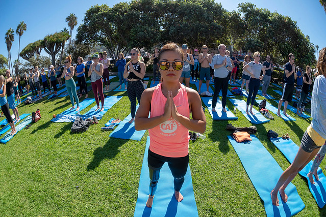 Yoga by the Sea at the San Diego Triathlon Challenge 2018