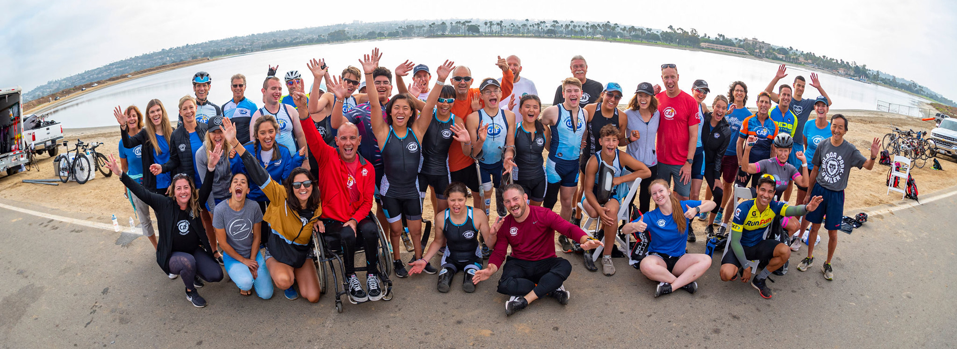 CAF Youth Paratriathlon Camp San Diego Group photo 2019