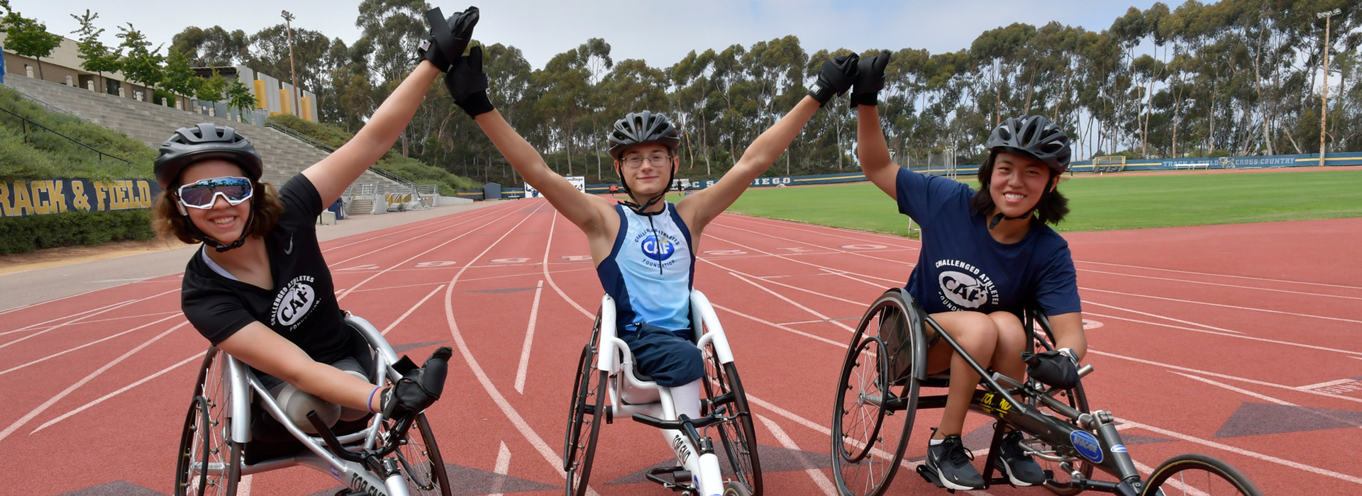 wheelchair racers at CAF Youth Paratriathlon Camp 2018_image