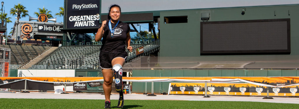 Samara at the 2019 Ossur Running & Mobility Clinic presented by CAF in San Francisco