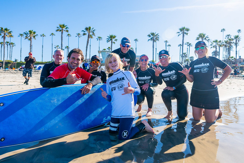 IRONMAN foundation surf clinic
