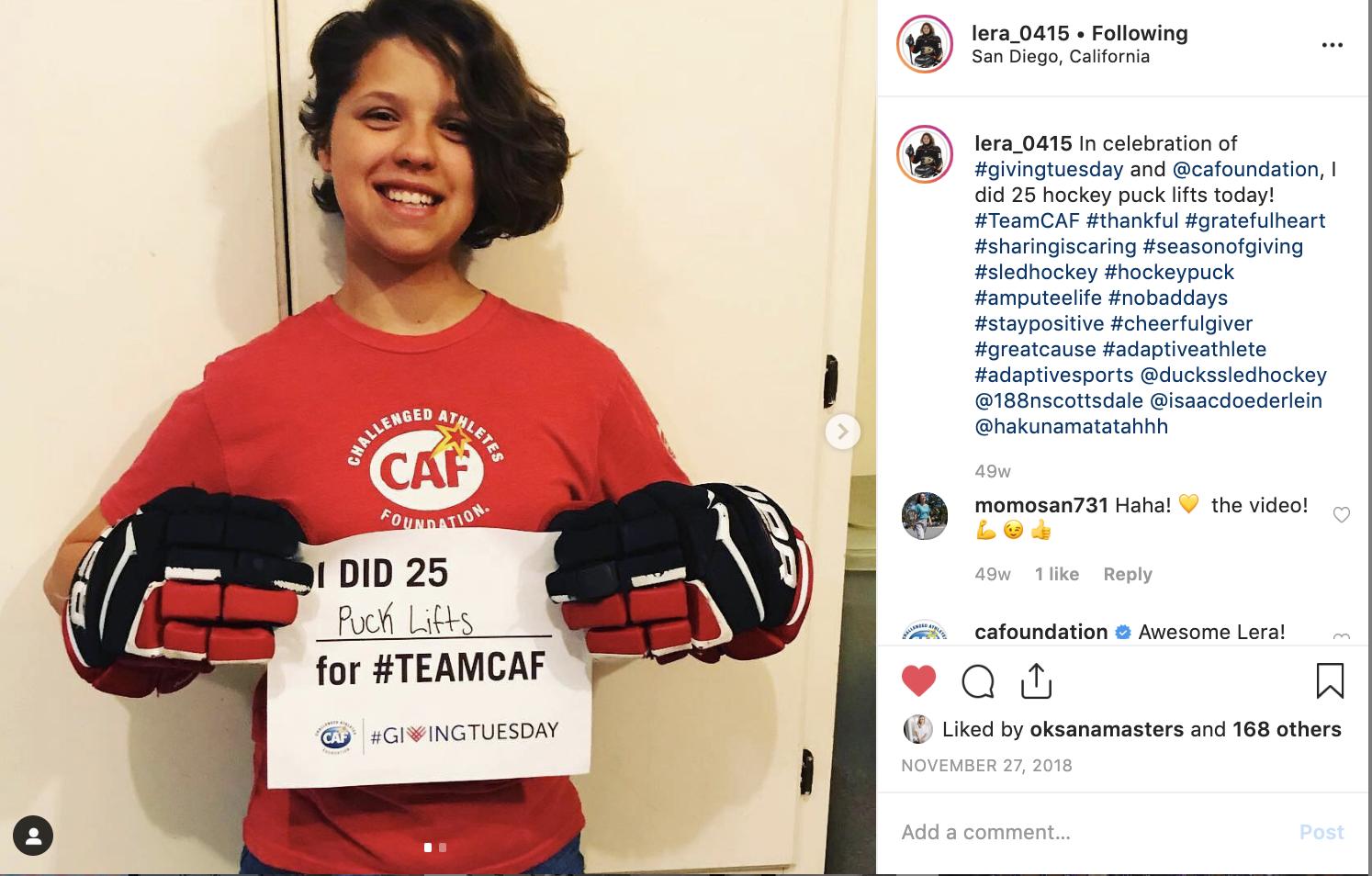 Lera Doederlein_Giving Tuesday Instagram 2018