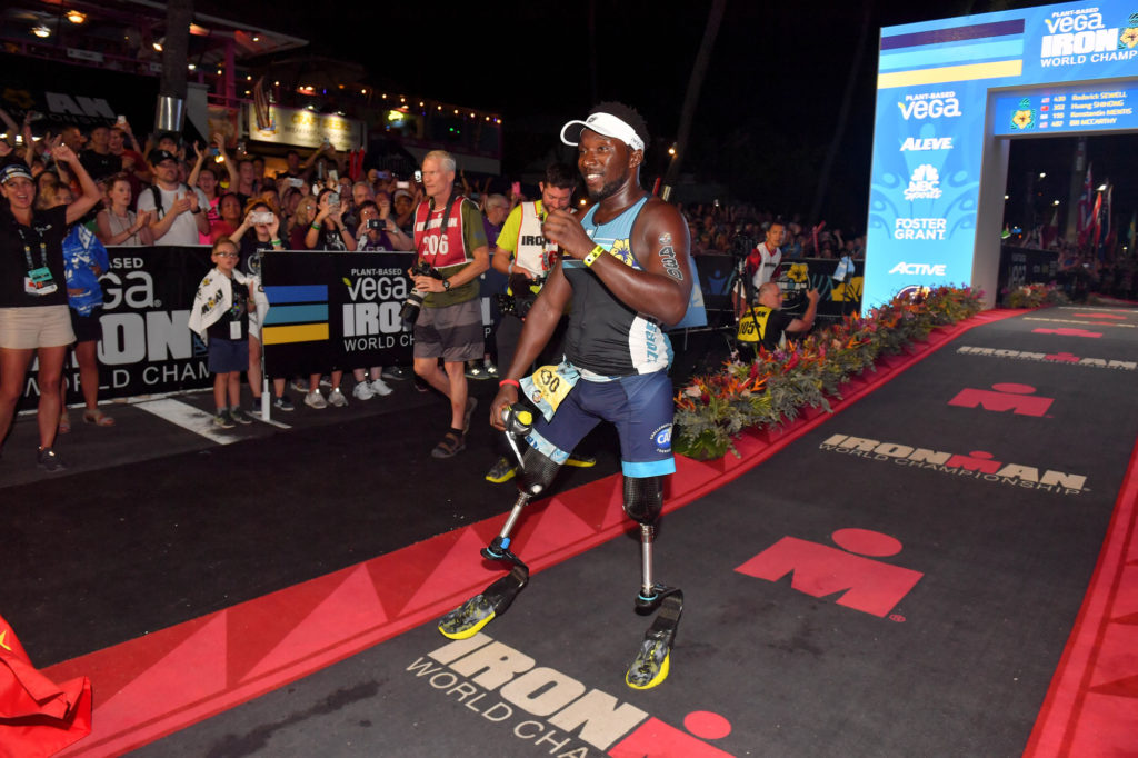 Roderick Sewell first double above the knee amputee to finish IRONMAN Kona