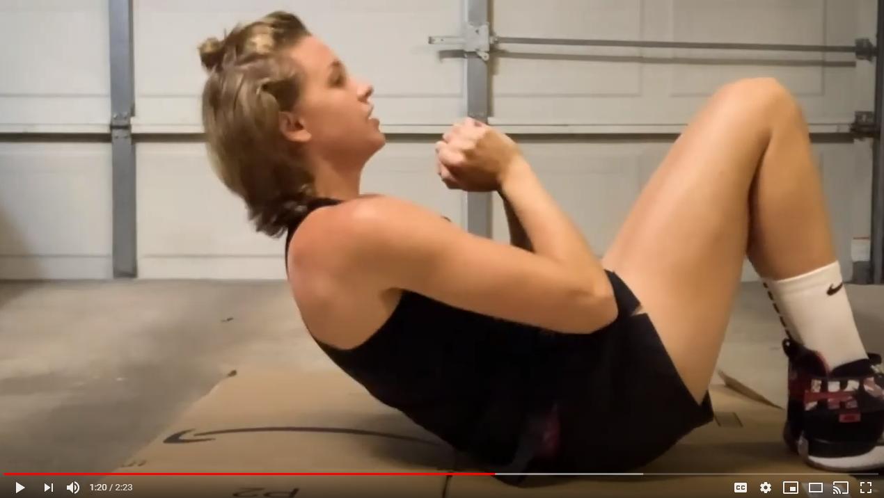 Abby Dunkin Sit Ups Video Screenshot