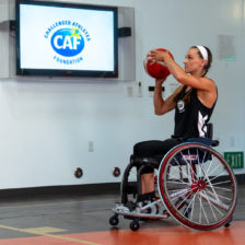 Megan Blunk Shooting Basketball